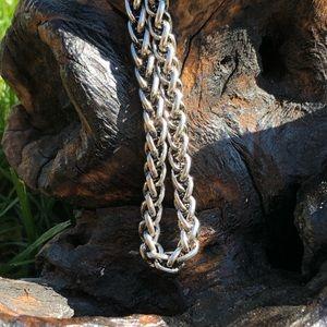 Nordstrom Men's Wheat Chain Necklace Silver Tone